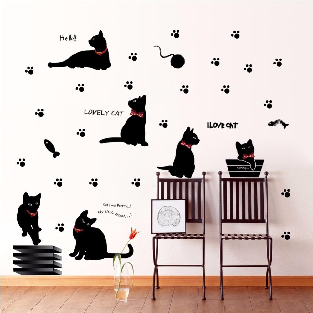 """מדבקות קיר """"חתולים"""""""
