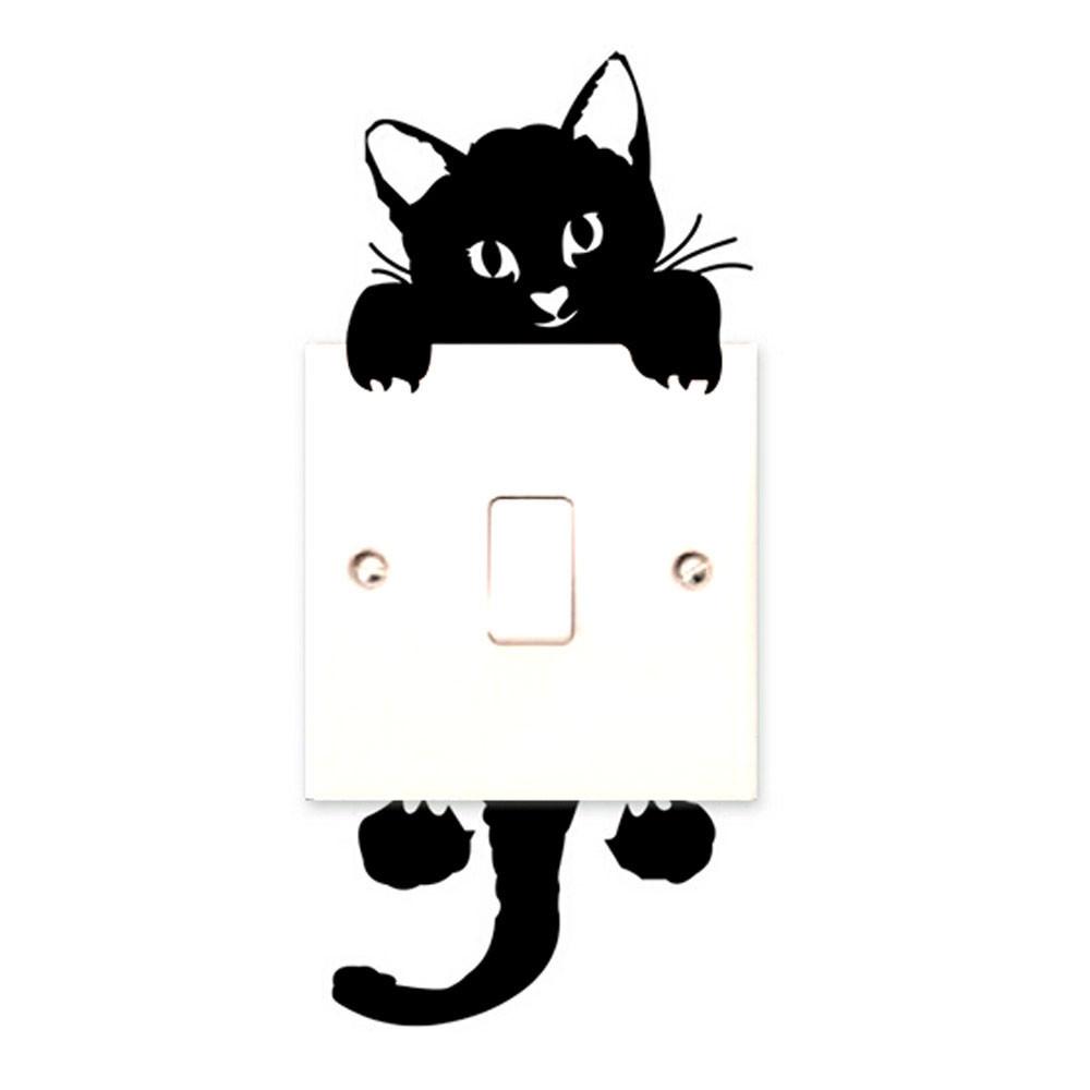 מדבקת שקע חתול
