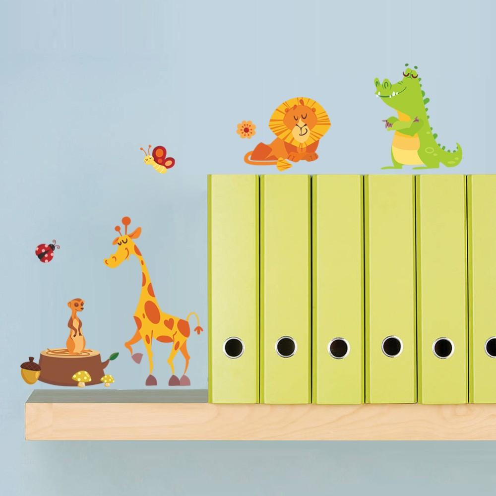 מדבקת קיר לחדר ילדים - בעלי חיים
