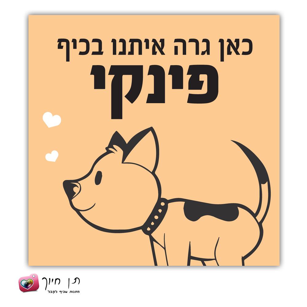 שלט כלב בחצר דגם 4