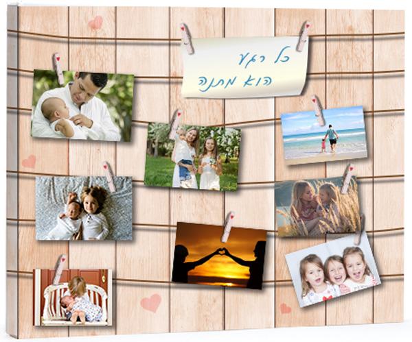 קנבס איכותי עם מגוון תמונות דגם אטבים