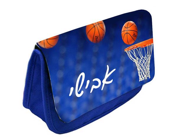 קלמר בעיצוב אישי עם שם והקדשה דגם כדורסל