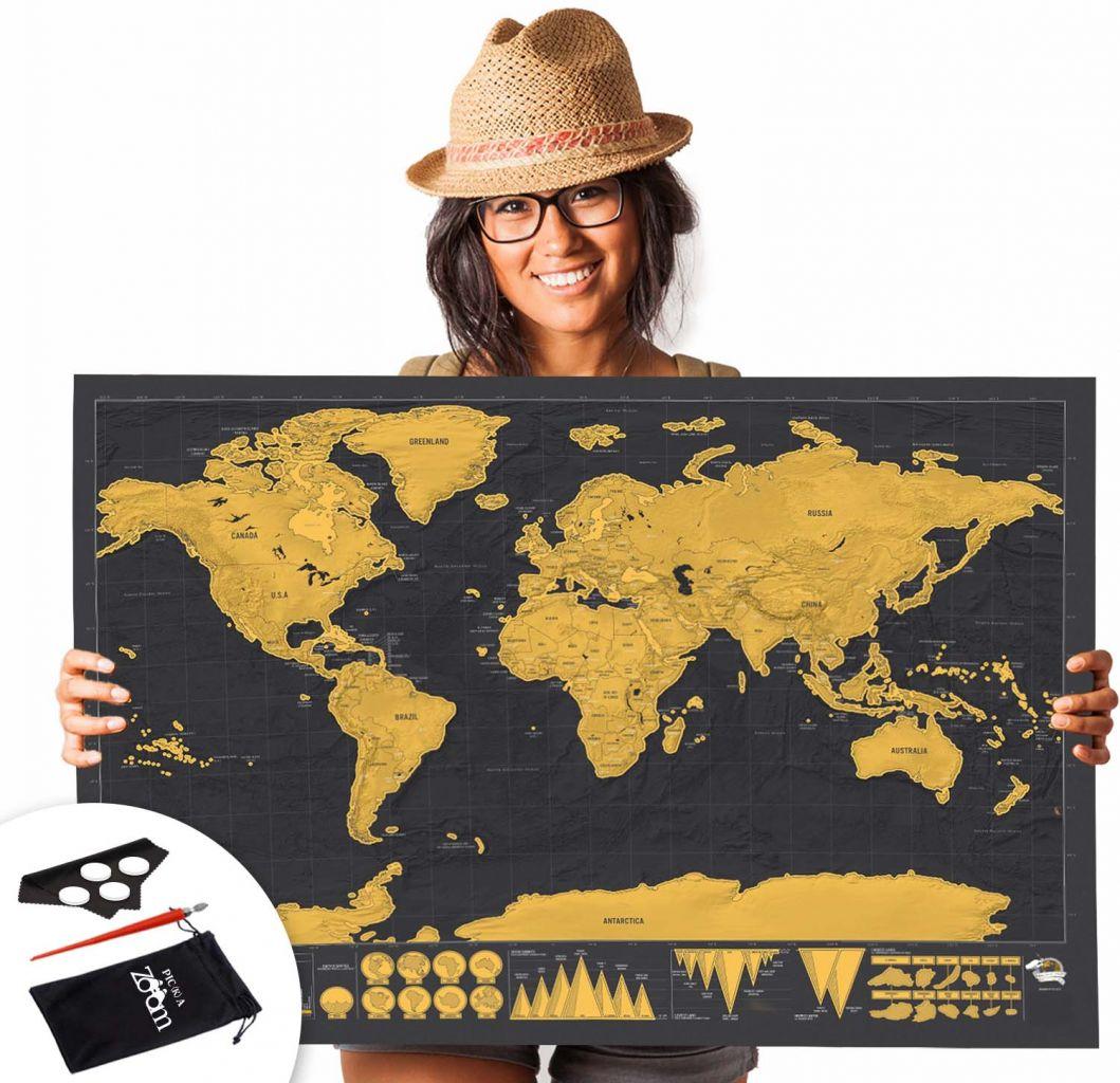 מפת גירוד העולם ב 89 שח בלבד